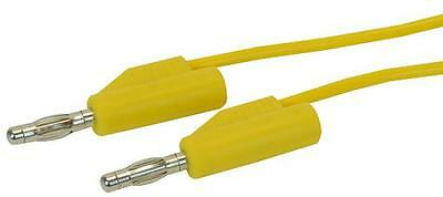 TEST LEAD 4MM PLUG-PLUG YELLOW 1M Test Test Leads & Probes, TEST LEAD, 4MM