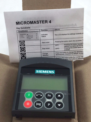 Siemens 6SE6400-0AP00-0AA1 MICROMASTER 4 ADVANCED OPERATOR PANEL (AOP) A07/1.60