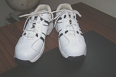 Lehigh Mens Safety Shoes, White Leather ,Work / Steel Toe, Casual Lace Up, 10Med