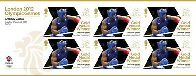 Anthony Joshua IBF WBA IBO 2012 Boxing Gold Medal Winner Stamp Sheet 6 x 1st