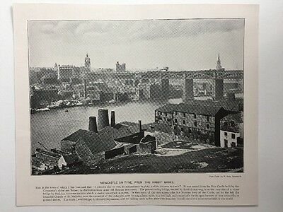 Victorian Print: Andre & Sleigh #PF: Newcastle-On-Tyne, From The Rabbit Banks