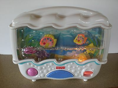 Fisher Price Ocean Wonders Aquarium Lights Baby Crib Toy Infant Soother Music