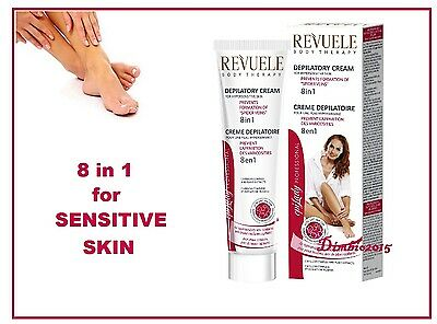 Hair Removal Depilation, Depilatory Cream for Sensitive Skin 8in1 REVUELE 125 ml