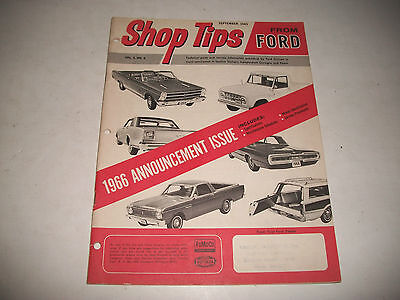 Vintage Ford Shop Tips 1966 Model Introduction  Issue Mustang Truck Bronco