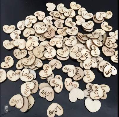 Love Heart Table Decoration Wooden Rustic Wedding Vintage Favours Personalised