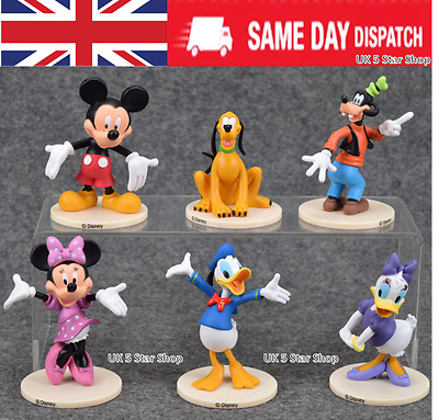 6PCS MICKEY MOUSE CLUBHOUSE action Figure Set Minnie TOY Cake Topper