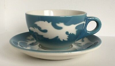 Vintage Syracuse China Oakleigh Pattern Coffee Cup with Saucer