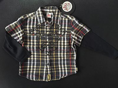 Red Sound Camicia Bambino/Boy TG.4 Anni Idea Regalo