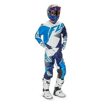 2016 Fly Racing Youth Kinetic Vector Jersey Youth Medium & Pants Youth 24 Blue