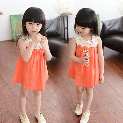 Infant Kids Baby Girls Summer Dress Princess Party Wedding Lace Dresses Clothes