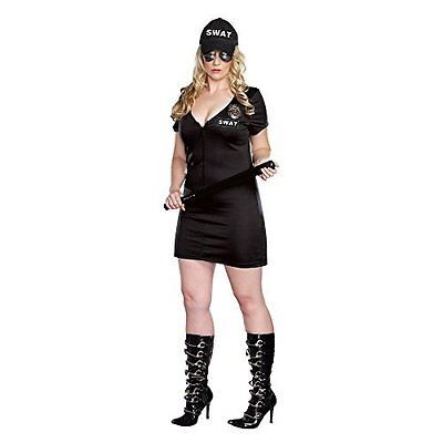 Womens S.W.A.T. Police Costume (3X / 4X Black)  sc 1 st  PicClick & Elegant Moments Quickdraw Cutie Cowgirl Adult Halloween Costume Size ...