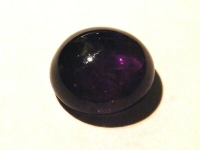 12mm Cabochon-Cut Deep-Purple Natural African Amethyst Gemstone with  Appraisal