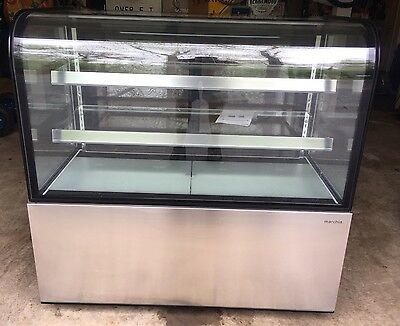 "Marchia 48"" Commercial Curved Glass Refrigerated Cooler Deli Display Case"