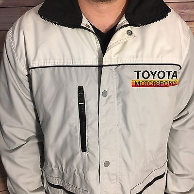 Vtg Team Toyota Toyotaline Motorsports Racing Coat Jacket Mens Made In Usa