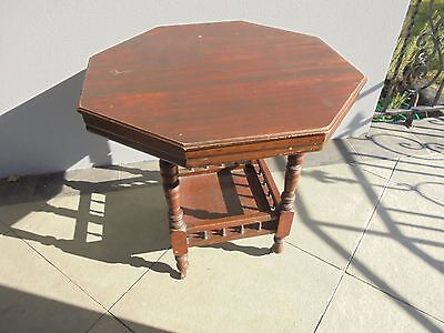 Collectable Victorian Aesthetic Antique Octagonal Occasional Side Table