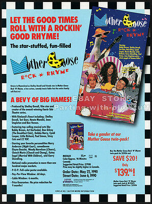 MOTHER GOOSE: Rock 'n' Rhyme__Orig. 1990 Trade Print AD promo__STRAY CATS_ZZ TOP