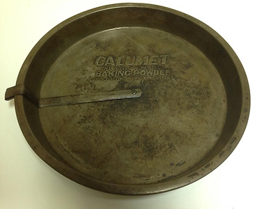 Vintage Calumet Double Acting Baking Powder Round Cake Tin Pan
