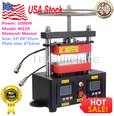 "2000+ PSI Professional Hand Crank Rosin Press Duel Heated Plates (2.4""x4.7"") US"