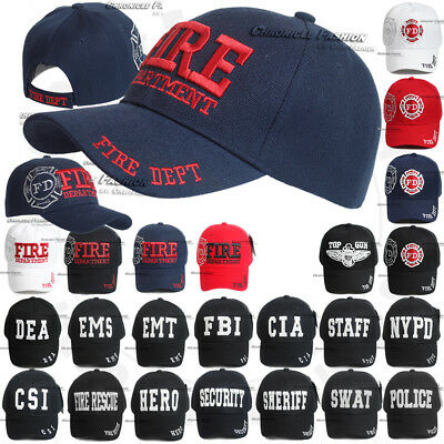Law Enforcement Embroidered Baseball Adjustable Cap Hat Caps CSI FIB SWAT Black