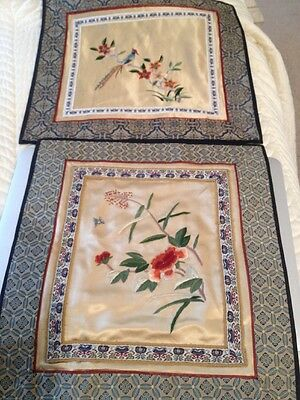 Vintage Chinese Hand Embroidered Silk Panel For Wall Hanging Textile BIRD