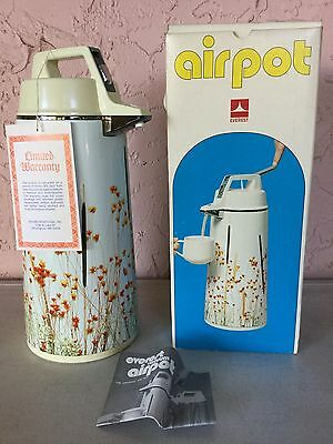 """NEW"" Vintage Airpot Coffee, Tea Dispenser Everest Air Pot Drink Hot Cold"