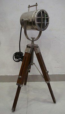 LARGE - Vintage Style  Marine SEARCH light with Stand