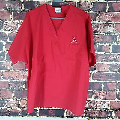Cherokee 1 Pocket V Neck Scrub Top Large Mens Medical Style Nurse/vet