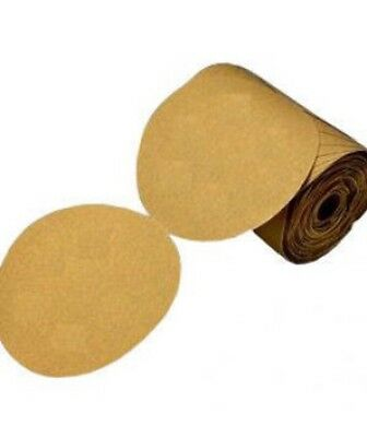 "USC 80606, 80 Grit 6"" Gold PSA Disc Roll, 100pc DA Disc Roll Sandpaper Abrasive"
