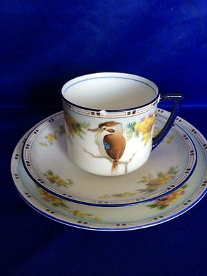 **RARE** Royal Doulton 'Kookaburra' Trio Cup & Saucer/Side Plate (H1284)