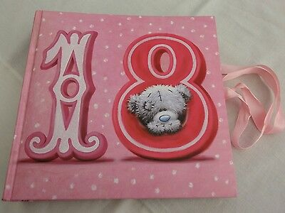 18th Birthday Age 18 Pink Ribbon Photo Picture Album Book Me to You Tatty Teddy