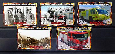 BARBADOS 2005 Fire Engines SG1281/5 U/M NB651