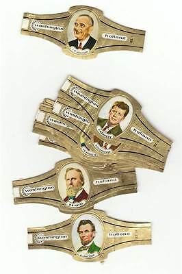 20 cigar bands Washington Presidents Of The Usa Nr1-20  iss in 1965