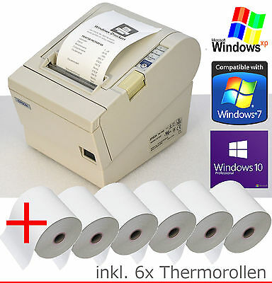 Bonprinter Cash epson TM-T88 RS-232 + USB Win XP 7 8 10 6xBONROLLEN 88-4