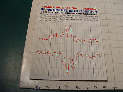 vintage booklet: 1964 HUMBLE OIL & REFINING CO. opportunities in exp. 10 pgs