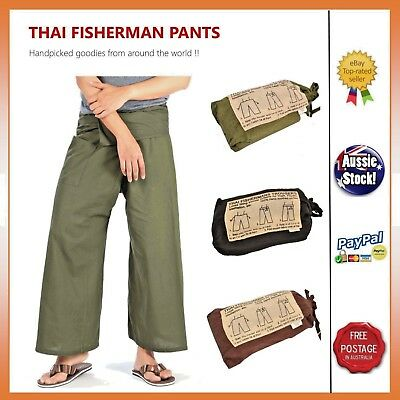UNISEX YOGA MEDITATION HIPPY TROUSER COTTON PANTS Thai Fisherman Pants