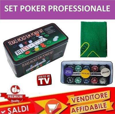 SET Professionale KIT POKER 100 Fiches Chip ULTIMATE POKER TEXAS HOLD'EM 2017