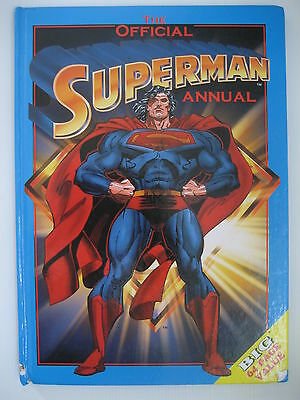 1990s the Official Superman Annual boys 1996 DC Comics hard cover book