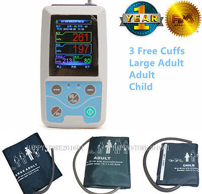 CONTEC US 24 Hours Ambulatory Blood Pressure Monitor ABPM50+3 Cuffs+PC Software