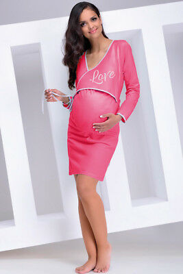 Maternity Nightdress Nightwear Nightie Nursing Gown Breastfeeding Gift For Her