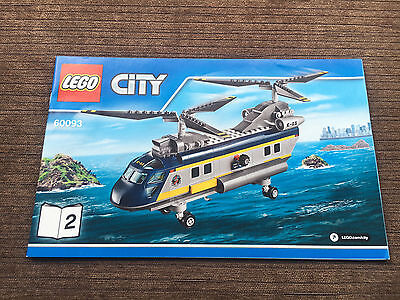 Lego - Instruction Book Only - Set 60093 Helicopter Book 2 Only