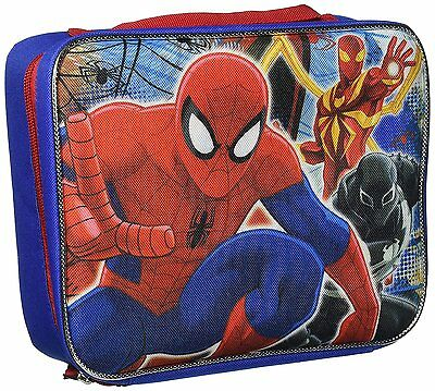 Spiderman Lunch Bag Marvel Zippered Lunchbox