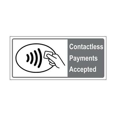 CONTACTLESS PAYMENTS Sticker -  CONTACTLESS PAYMENTS ACCEPTED Window Sign