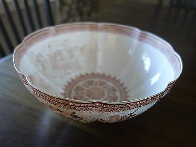 Vintage Signed Chinese Eggshell Porcelain Bowl w/ lady, children and old man