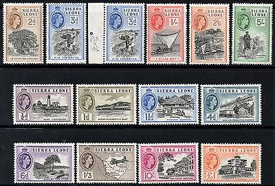 Sierra Leone 1956-61 Queen Elizabeth II  Pictorial Set  SG.210/222 Mint (Hinged)