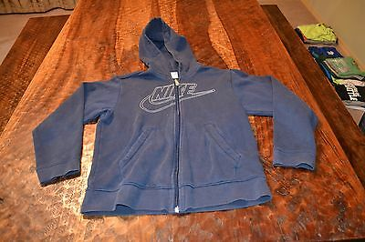 Nike  ~ Boys Youth Medium 10-12 ~ Full Zip Sweatshirt Hoodie ~ Navy White