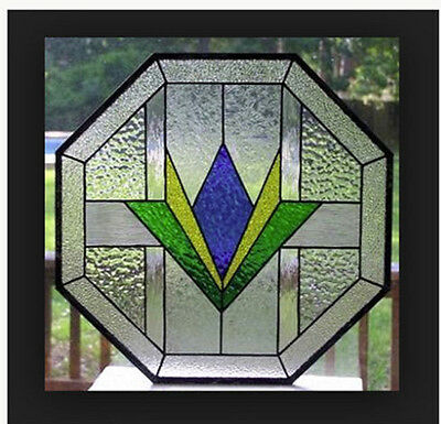 Stained glass Octagon  window custom made to your sizes