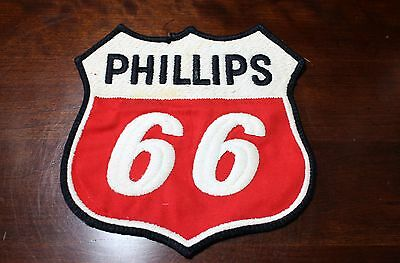 """Original Vintage Phillips 66 Embroided Cloth Oil & Gas Patch 6"""" x 6"""""""