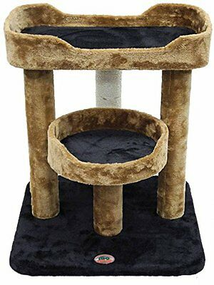 Go Pet Club Cat Scratcher Condo Pet Supplies Furniture Brown/Black Wood