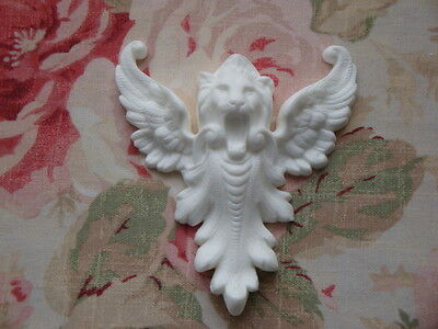 New! French Griffin Lion and Acanthus Center Architectural Furniture Applique