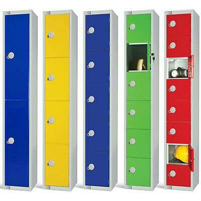 "Elite Guard Coloured Lockers 1,2,3,4 & 6 Door with ""Airflow"" Ventaltion System"